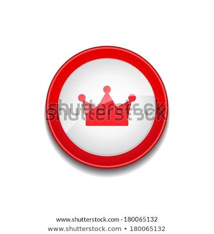 Madalya vektör kırmızı web simgesi düğme Stok fotoğraf © rizwanali3d