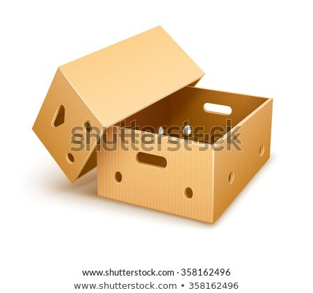 Empty cardboard box tare for fruits transportation and keeping Stock photo © LoopAll