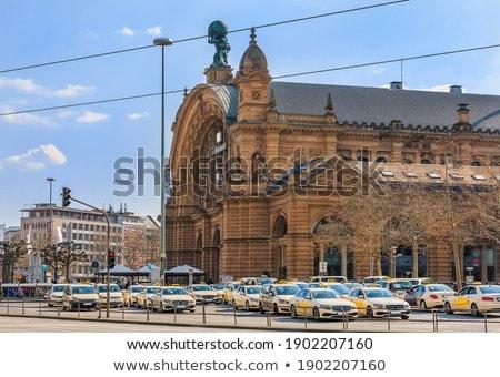 Bent Frankfurt központi állomás Németország város Stock fotó © meinzahn