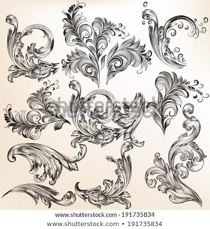 Элементы · дизайна · страница · украшение · вектора - Сток-фото © blue-pen