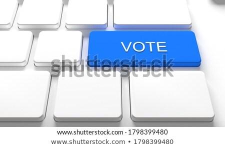 check in   text on blue keyboard key 3d stock photo © tashatuvango