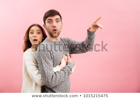 Fericit tineri iubitor cuplu izolat Imagine de stoc © deandrobot