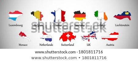 Belgium vidék sziluett zászló izolált fehér Stock fotó © evgeny89