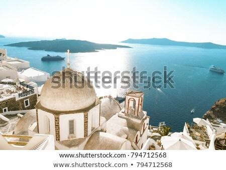 Stad santorini eiland cruise schepen Stockfoto © dmitry_rukhlenko