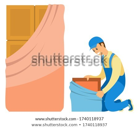 Locker or Door Symbol, Craftsman Character Vector Stock photo © robuart