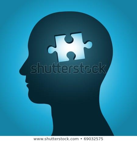 hoofd · puzzel · ideeën · gedachten · denk · menselijke - stockfoto © adrian_n