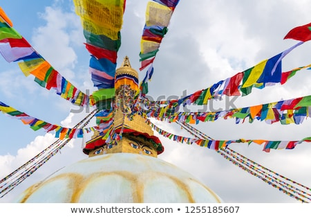 Buddha And Stupas Stok fotoğraf © Arsgera