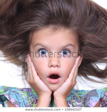 Meisje gezicht gelukkig achtergrond schoonheid leuk Stockfoto © TarikVision