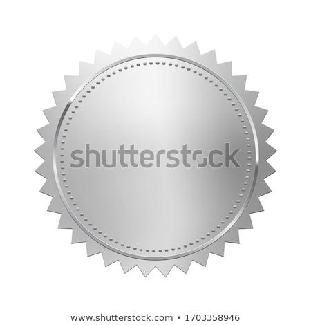 prata · selar · vetor · assinar · prato · publicidade - foto stock © burakowski