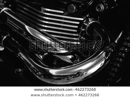 мотоцикл · двигатель · кадр · окна · кафе - Сток-фото © artush