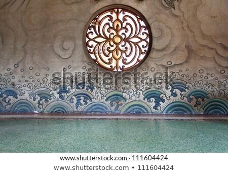 中国語 窓 グランジ 壁 ウィンドウ ストックフォト © aspenrock