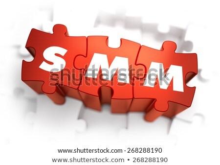smm   text on red puzzles stock photo © tashatuvango