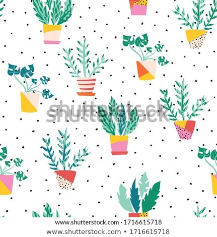 abstract plant with pot Stock photo © pathakdesigner
