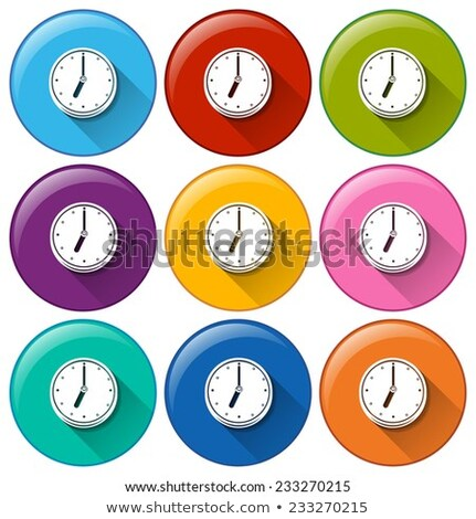 Rounded buttons with wallclocks Stock photo © bluering