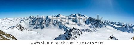 hegyek · tél · tájkép · kunyhó · hegy · erdő - stock fotó © bbbar