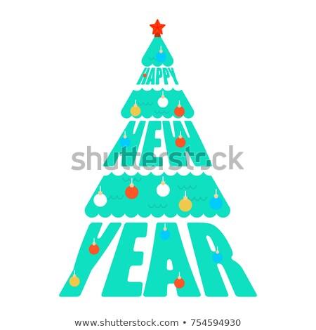Feliz año nuevo árbol de navidad navidad vector papel diseno Foto stock © MaryValery