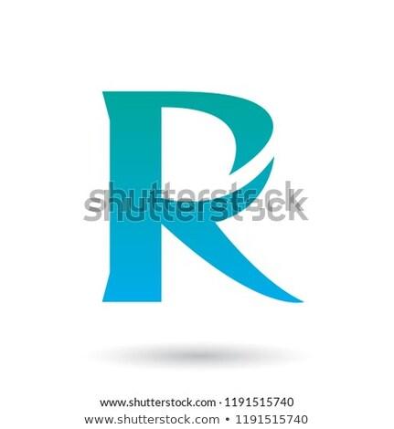 absztrakt · kék · logo · vektor · grafikus · elegáns - stock fotó © cidepix