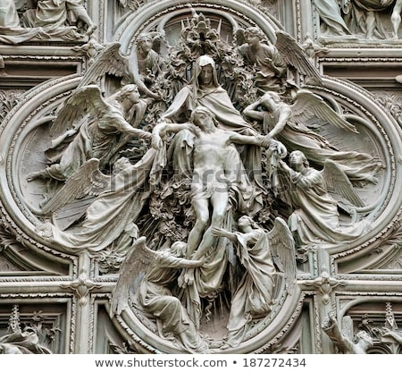 architectural details at the milan cathedral italy stock photo © boggy
