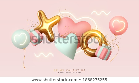 valentines day 3d heart banner design stock photo © sarts