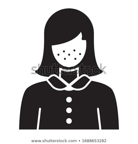 Dziewczyna symptom twarz biały skóry Zdjęcia stock © lenm