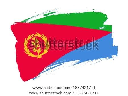 Eritrea flag, vector illustration on a white background Stock photo © butenkow