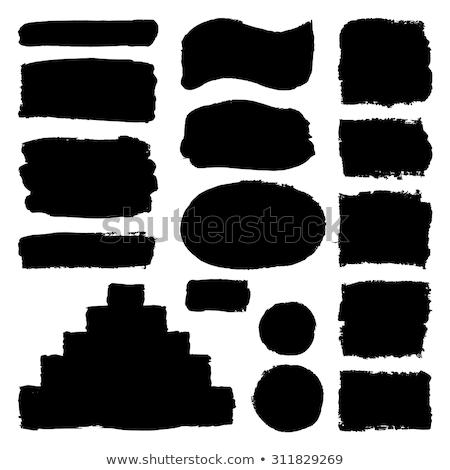 セット 黒 グランジ 斑 孤立した 白 ストックフォト © evgeny89