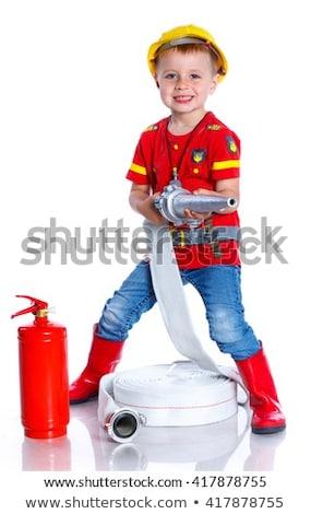 выразительный Cute играет пожарный баннер Сток-фото © galitskaya