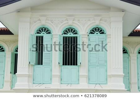 entrada · varanda · vidro · porta · sessão · casa - foto stock © ruslanomega