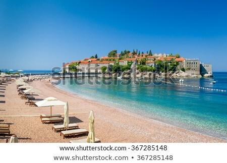 Stock fotó: Sziget · Montenegró · épület · természet · tájkép · tenger
