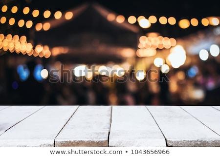Perspectiva madera bokeh luz resumen circular Foto stock © teerawit