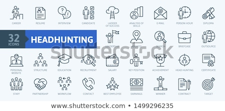 headhunting icon business concept stock photo © wad