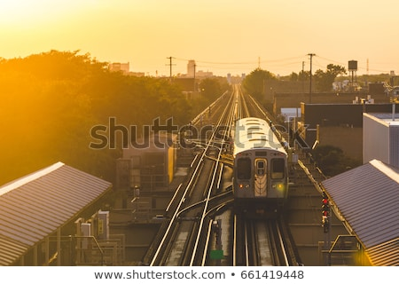 Panoramik görmek demiryolu tren Chicago ABD Stok fotoğraf © vwalakte