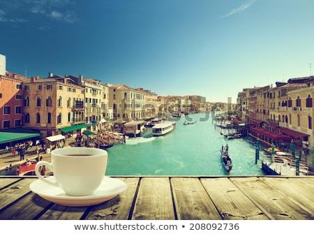 Кубок кофе Венеция мнение канал Италия Сток-фото © neirfy