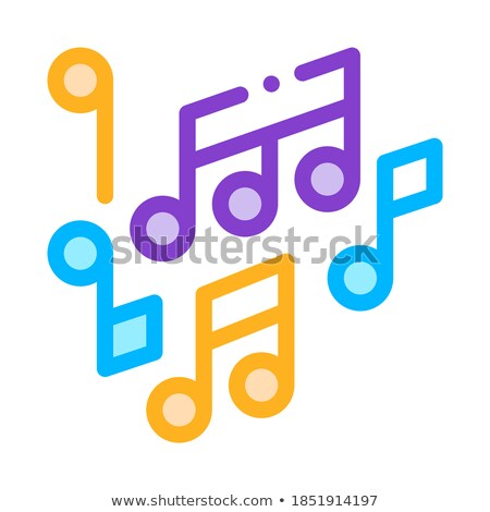 Melody Music Mono And Treble Notes Vector Icon Stock photo © pikepicture