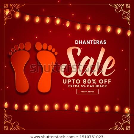 dhanteras sale background with god lakshami footprint Stock photo © SArts
