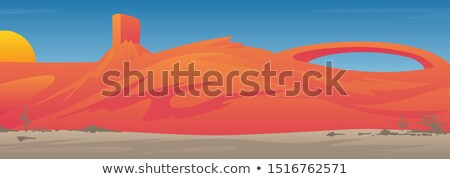 abstract · zonsopgang · bergen · maan · water · natuur - stockfoto © jeff_hobrath