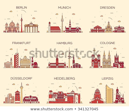 frankfurt cathedral germany stock photo © borisb17