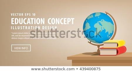 Földrajz osztályterem földgömb könyv iskola vektor Stock fotó © robuart
