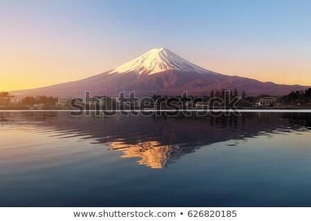 Nascer do sol belo madrugada paisagem fundo montanha Foto stock © vichie81