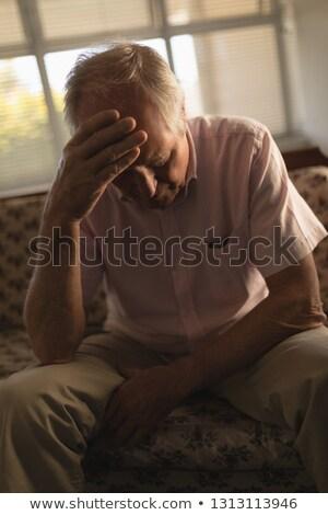 Vue anxieux supérieurs homme détente Photo stock © wavebreak_media