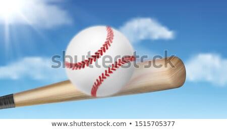 Bate de béisbol ilustración pelota fuera campo deporte Foto stock © lenm
