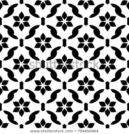 Preto e branco azulejos vetor padrão sem costura projeto Foto stock © RedKoala