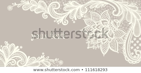 Leaves decor card Vector line art. Vintage retro style wedding invitation or greetings Stock photo © frimufilms