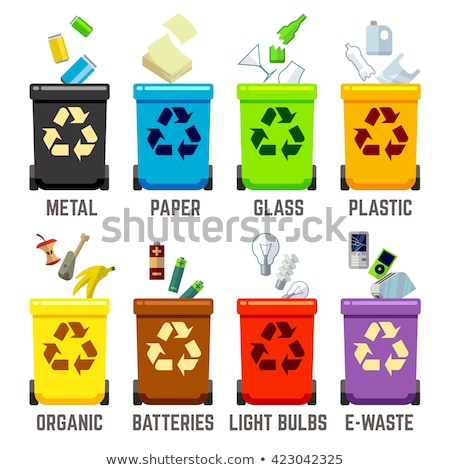 Organic waste recycling - modern flat design style illustration Stock photo © Decorwithme