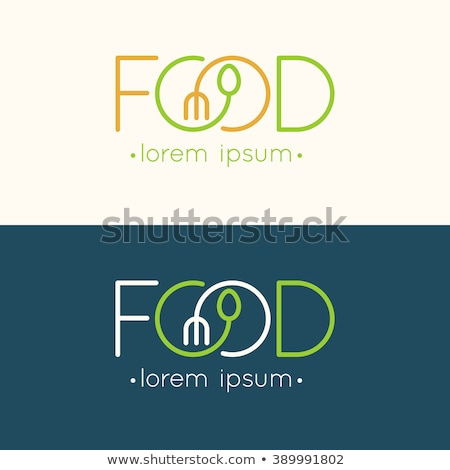 Modern minimalist restoran menü şablon pastel Stok fotoğraf © orson