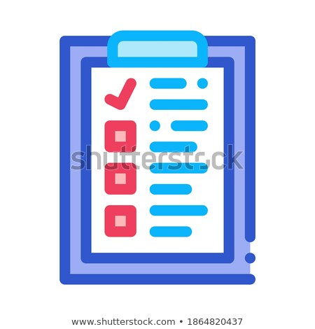 Voting Sheet Icon Vector Outline Illustration Stock photo © pikepicture