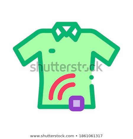 Tshirt signaal sensor icon vector schets Stockfoto © pikepicture