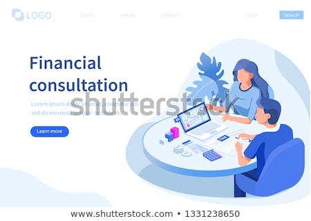 онлайн финансовых Consulting бизнеса инвестиции бюджет Сток-фото © RAStudio