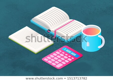Book and Stationery, Supplies for Study and Teacup Stock photo © robuart