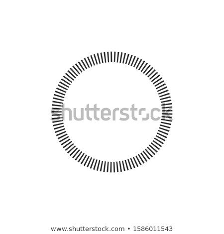 Geometric circle element made of radiating rectangles. Abstract circle shape. Stock Vector illustrat Stock photo © kyryloff